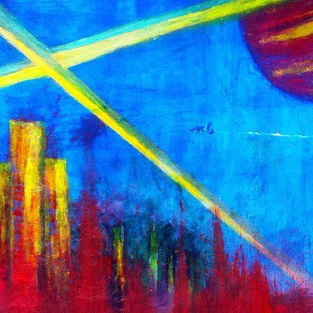 """""""Beyond the Edge"""" (Acrylic & Gouache - 90x63cm painting cardboard)"""