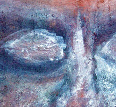 """""""Blue Face"""" (Oil Paint - on Canvas 20cm x 38cm) 1"""