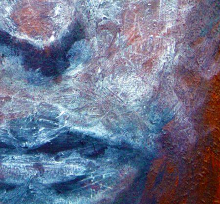 """""""Blue Face"""" (Oil Paint - on Canvas 20cm x 38cm) 2"""