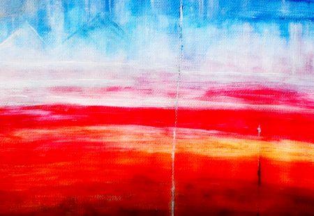 """Blue Lines"" (Acrylic & Gouache - canvas- A3) 2"