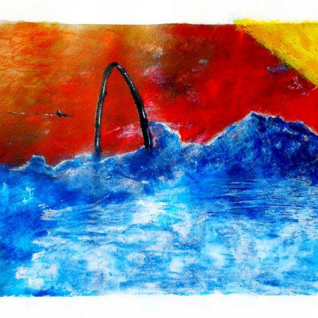 """""""Half Circle Land"""" (Acrylic & Gouache - 300gsm Watercolor Paper - A3)"""