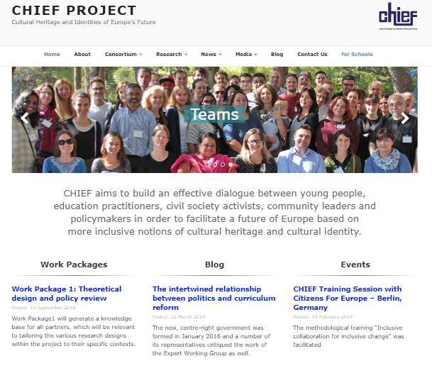 Web page for chiefproject.eu