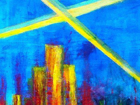 """""""Beyond the Edge"""" (Acrylic & Gouache - 90x63cm painting cardboard) 1"""